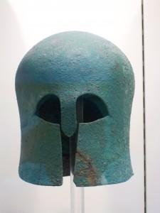 Casque de guerrier (musée d'Olympie)